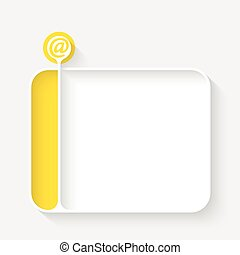 White text box for your text and email symbol
