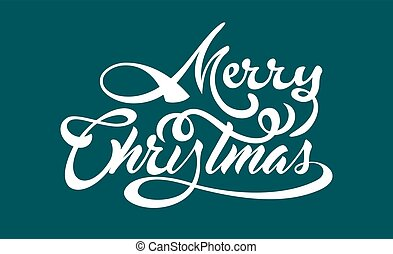 White text Marry Christmas on green background.
