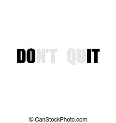 White text slogan - Motivational poster with black Do It ...