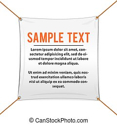 White Textile Banner For Text and Design