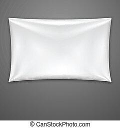 White Textile Banner. Vector