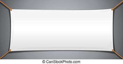White Textile Cotton Banner