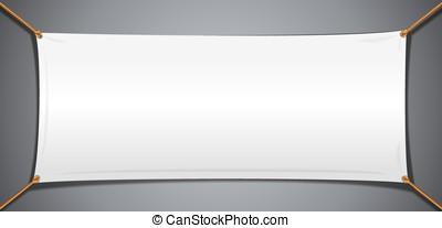 White Textile Cotton Banner