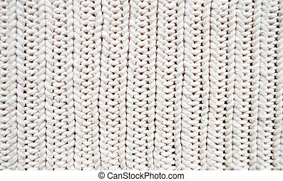 White texture of knitwear
