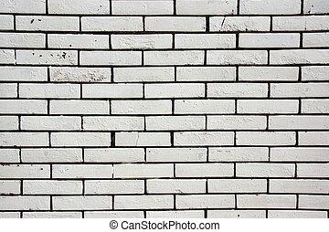 White Textured Brick Wall