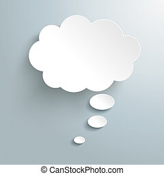 White Thought Bubble - Infographic design white thought...