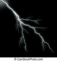 white thunder on black background