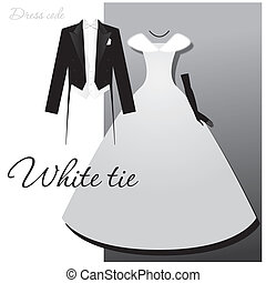 Dress code - White tie. Male - tails, light vest and white bow tie, a woman - a ball or evening gown, long gloves and a fur cape.