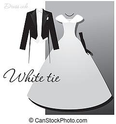 white-tie - Dress code - White tie. Male - tails, light vest...
