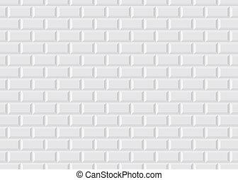 Illustration of the white tiled from Parisian metro