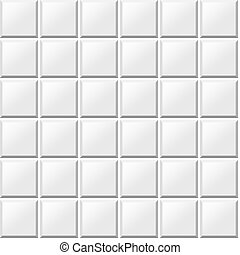white tiles seamless pattern