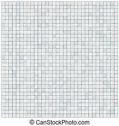 White tiles wall covering - Pattern of irregular little...