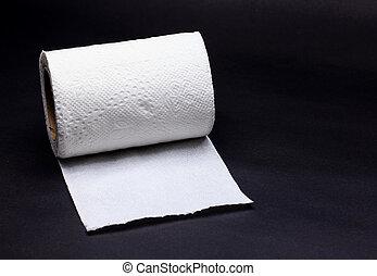 White Tissue Paper on Black Background