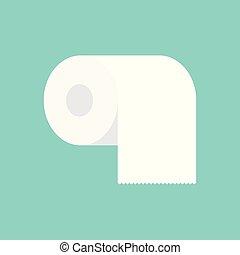 white toilet paper icon- vector illustration