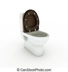 white toilette isolated on white background