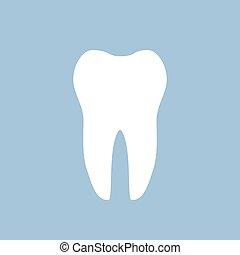 White tooth dental icon