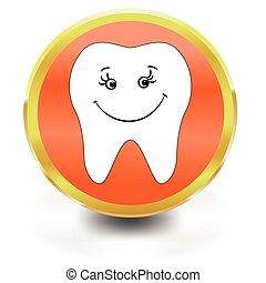 White Tooth Icon