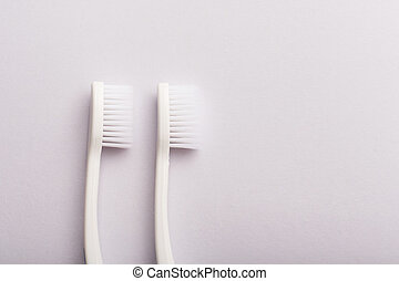 White toothbrush isolated on white background.