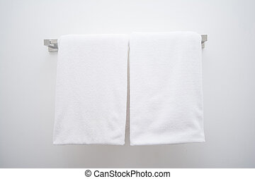 hanging white towel. White Towel In Bathroom, Home Hanging O