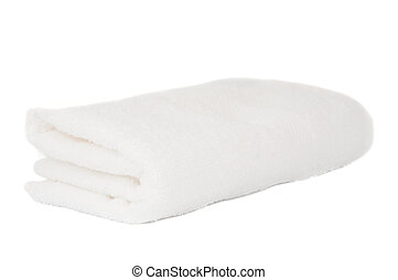 white towel on a white background