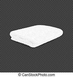 White towel on transparent background