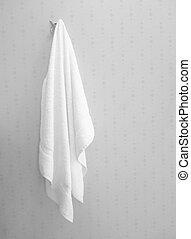 hanging white towel. White Towel Hanging T