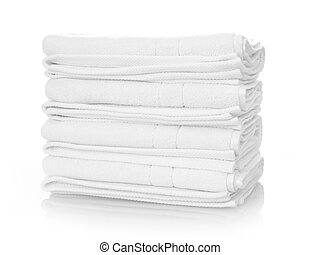 White towels - Clean white towels isolated on white