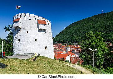 White Tower of Brasov fortifications, Transylvania, Romania