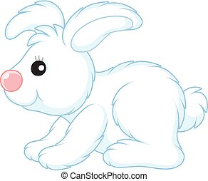 White toy hare