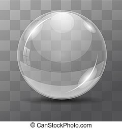 White transparent bubble. Lens. dew drops on a transparent background. Vector illustrations.