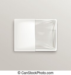 White Transparent Empty Disposable Plastic Food Container...