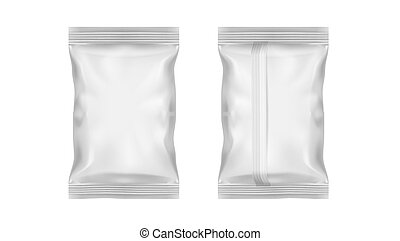 White Transparent Foil Pack For Snack, Chips, Candy Or Other Food