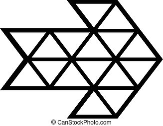 White triangle arrow icon, simple style
