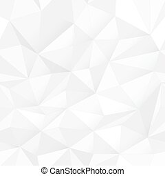 White triangle surface, seamless pattern. Simple whitel Design texture. White Low Poly Pattern Background