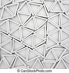 White triangles - Abstract background from white triangles