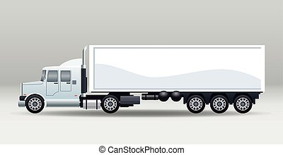 white truck car vehicle brand isolated