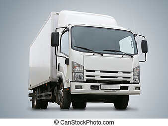 white truck it is isolated