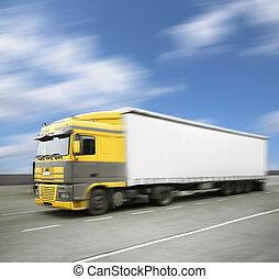 white truck on highway