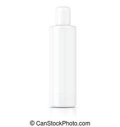 White tubular bottle template. - White tubular bottle (...