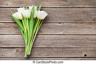 White tulips bouquet