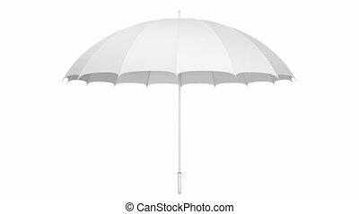 White umbrella 3D animation