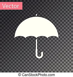 White Umbrella icon isolated on transparent background. Vector Illustration