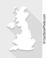 White  United Kingdom map