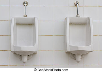 white urinals