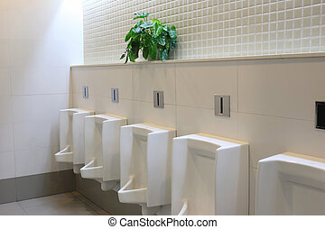 white urinals.