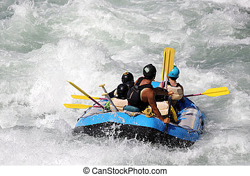 white víz tutaj, képben látható, a, zúgó, közül, folyó