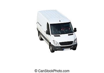 White van - A white van isolated on a white background