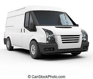 White van - 3D render of a white van