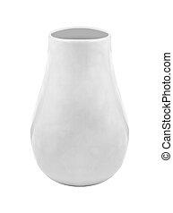 White vase isolated on a white background