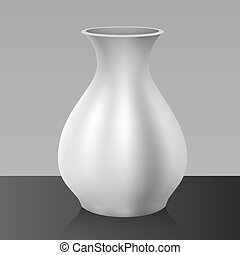 White vase, isolated on background
